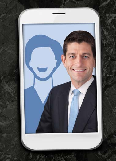 Funny Funny Political Card Add Your Photo Paul Ryan selfie add photo birthday phone speaker house republican democrat , Hope your Birthday is Picture-Perfect!